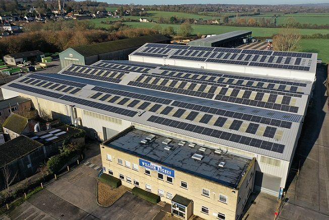 Manufacturer William Hughes to cut annual energy costs by £35,000 and carbon emissions by 100 tonnes with SolarEdge PV system