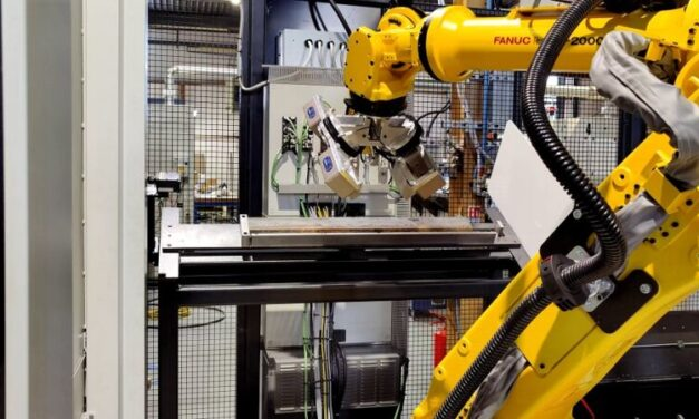 Mills CNC chooses laser triangulation sensor from Micro-Epsilon to position and measure railway fishplates in automated machine tool inspection system