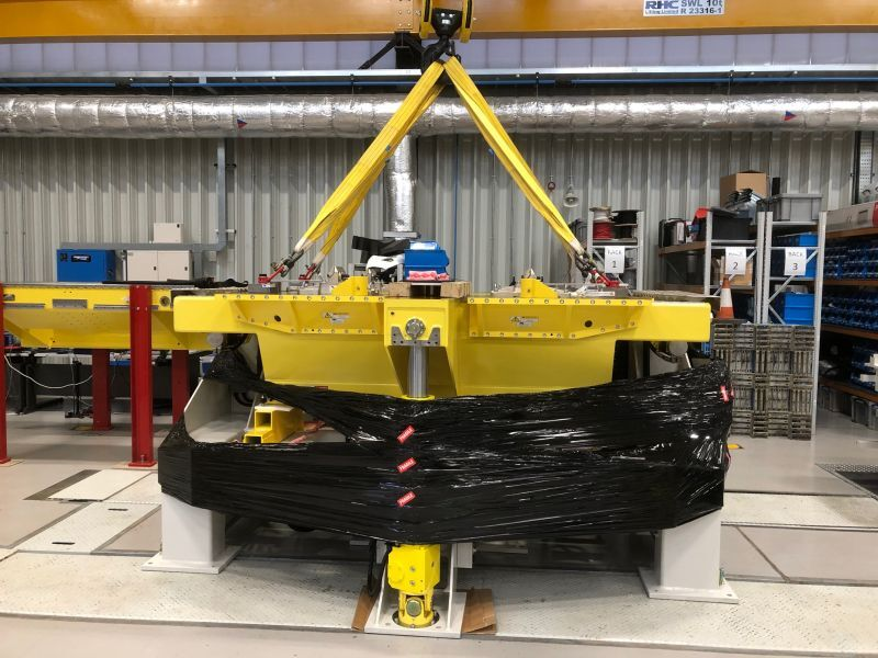 Critical machinery move for advanced automotive technology
